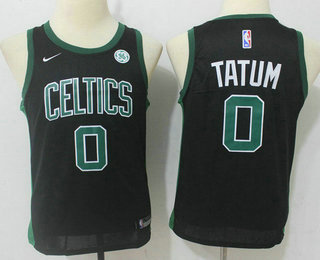 Youth Boston Celtics #0 Jayson Tatum Black 2017-2018 Nike Swingman General Electric Stitched NBA Jersey