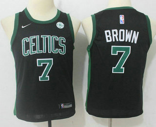 Youth Boston Celtics #7 Jaylen Brown Black 2017-2018 Nike Swingman General Electric Stitched NBA Jersey