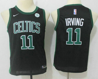 Youth Boston Celtics #11 Kyrie Irving Black 2017-2018 Nike Swingman General Electric Stitched NBA Jersey