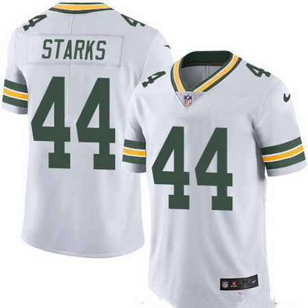 ID95972 Men\'s Green Bay Packers #44 James Starks White 2016 Color Rush Stitched NFL Nike Limited Jersey