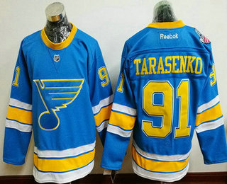 Men's St. Louis Blues #91 Vladimir Tarasenko Blue 2017 Winter Classic Stitched NHL Reebok Hockey Jersey