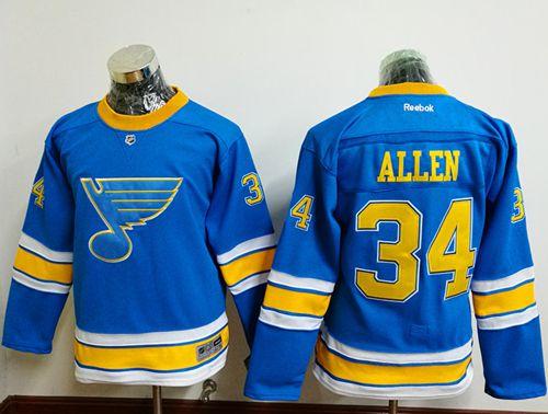 bbd9494a77e ... Blues 34 Jake Allen Light Blue 2017 Winter Classic Stitched Youth NHL  Jersey 2017 Throwback 99 Wayne Gretzky ...