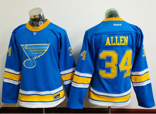 Blues #34 Jake Allen Light Blue 2017 Winter Classic Women's Stitched NHL Jersey