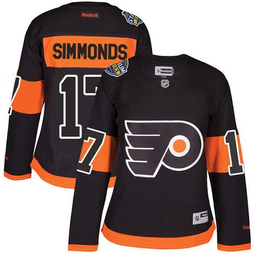 Flyers #17 Wayne Simmonds Black 2017 Stadium Series Women's Stitched NHL Jersey