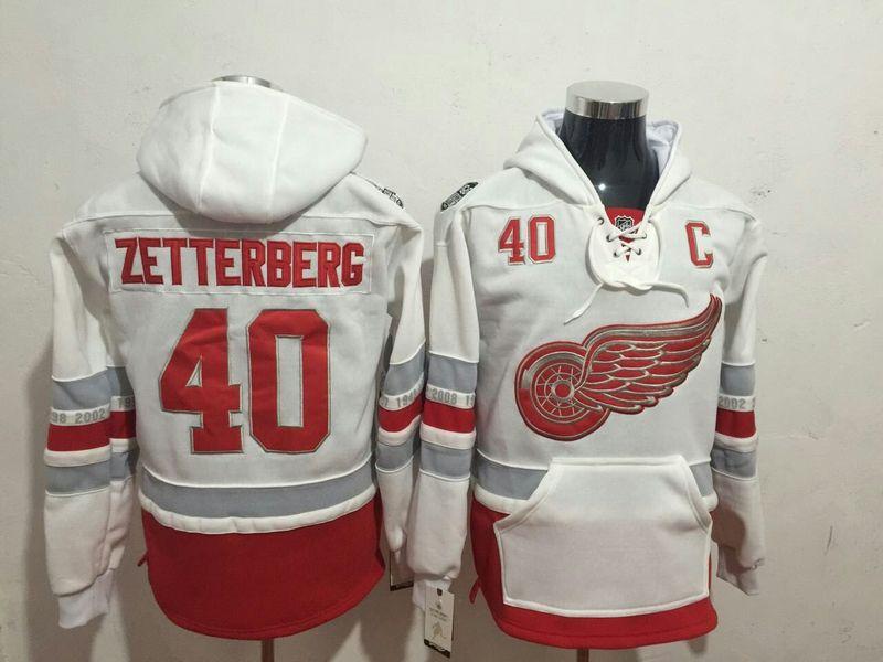 Red Wings  9 Gordie Howe Red Name   Number Pullover NHL Hoodie on ... 3d22b21f6