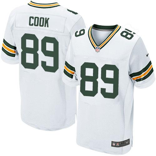 ID96247 Nike Packers #89 Jared Cook White Men\'s Stitched NFL Elite Jersey