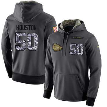 2645fa45971 NFL Men's Nike Kansas City Chiefs #50 Justin Houston Stitched Black  Anthracite Salute to Service