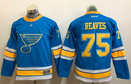 Blues #75 Ryan Reaves Light Blue 2017 Winter Classic Stitched Youth NHL Jersey
