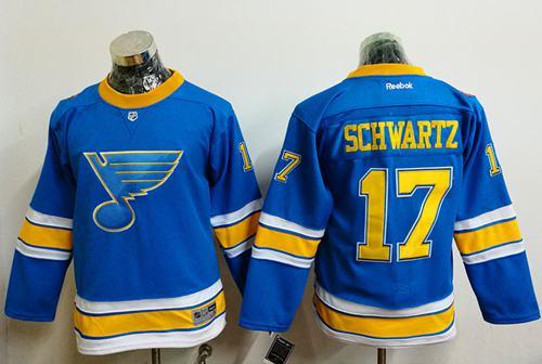 Blues #17 Jaden Schwartz Light Blue 2017 Winter Classic Stitched Youth NHL Jersey