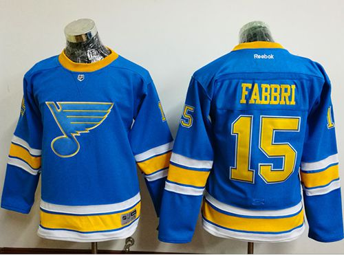 Blues #15 Robby Fabbri Light Blue 2017 Winter Classic Stitched Youth NHL Jersey