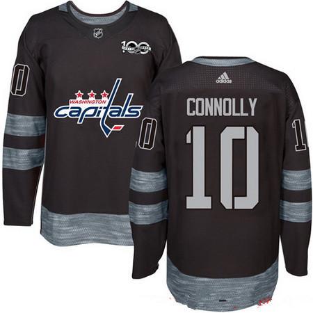 Men's Washington Capitals #10 Brett Connolly Black 100th Anniversary Stitched NHL 2017 adidas Hockey Jersey