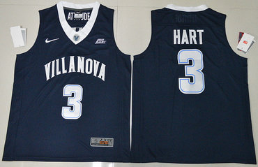 c3d7e1240 Men s Villanova Wildcats  3 Josh Hart Navy Blue College Basketball Stitched  Nike Swingman Jersey