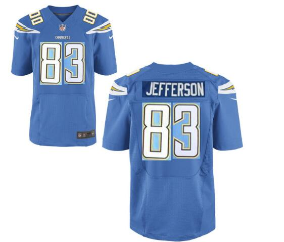 Mens San Diego Chargers #83 John Jefferson Light Blue  Nike Elite jerseys