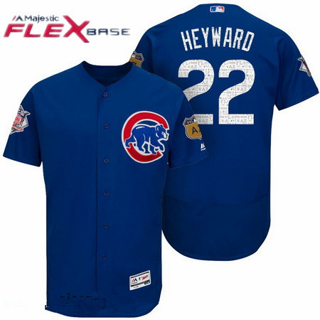 player jersey mlb mens chicago cubs 22 jason heyward royal blue 2017 spring training stitched mlb ma