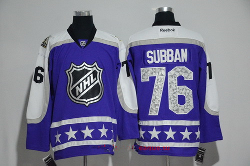Men's Central Division Nashville Predators #76 P.K Subban Reebok Purple 2017 NHL All-Star Stitched Ice Hockey Jersey