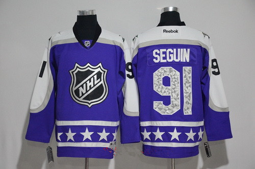 Men's Central Division Dallas Stars #91 Tyler Seguin Reebok Purple 2017 NHL All-Star Stitched Ice Hockey Jersey