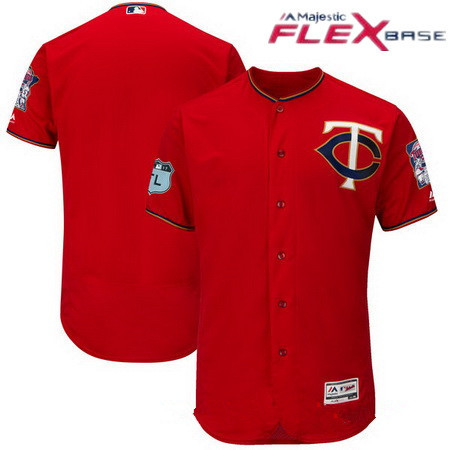 mens minnesota twins majestic scarlet red 2017 spring training authentic flex base stitched mlb cust