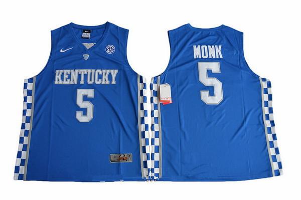 Men\u0027s Kentucky Wildcats #5 Malik Monk Royal Blue College Basketball 2017  Nike Swingman Stitched NCAA Jersey