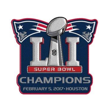2017 NFL Super Bowl LI 51 Champions New England Patriots Jersey Patch