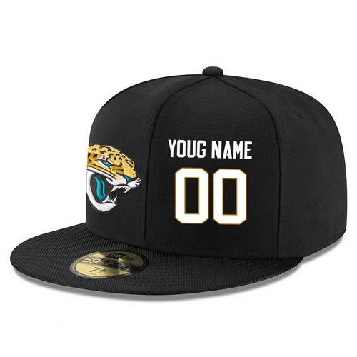 ID95520 Jacksonville Jaguars Custom Snapback Cap NFL Player Black with White Number Stitched Hat