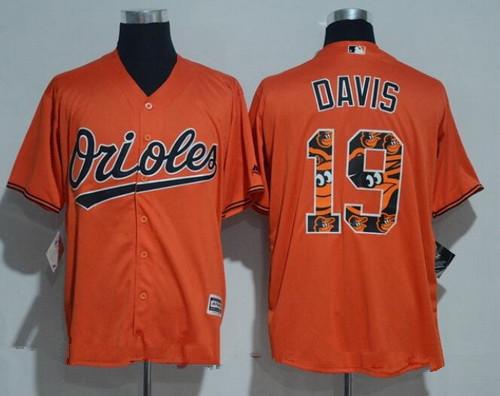 men 39 s baltimore orioles 19 chris davis orange team logo