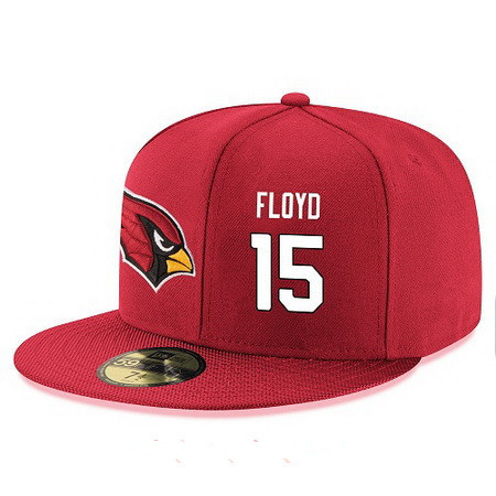 Arizona Cardinals #15 Michael Floyd Snapback Cap NFL Player Red with White Number Stitched Hat