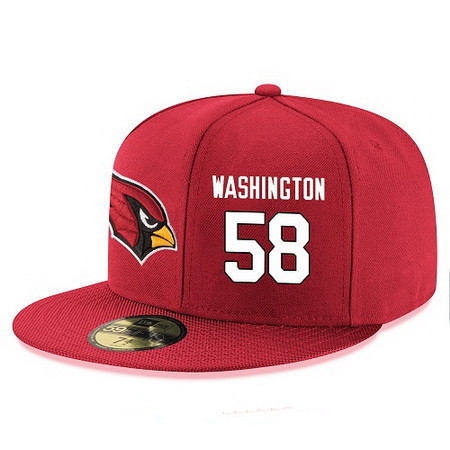 Arizona Cardinals #58 Daryl Washington Snapback Cap NFL Player Red with White Number Stitched Hat