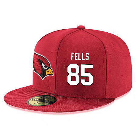 Arizona Cardinals #85 Darren Fells Snapback Cap NFL Player Red with White Number Stitched Hat_