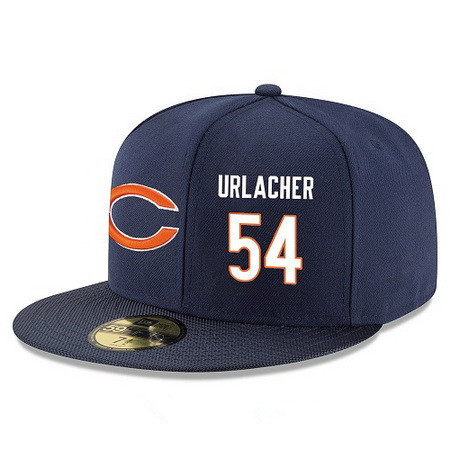 ID94907 Chicago Bears #54 Brian Urlacher Snapback Cap NFL Player Navy Blue with White Number Stitched Hat