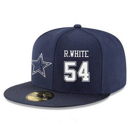 ID94943 Dallas Cowboys #54 Randy White Snapback Cap NFL Player Navy Blue with White Number Stitched Hat