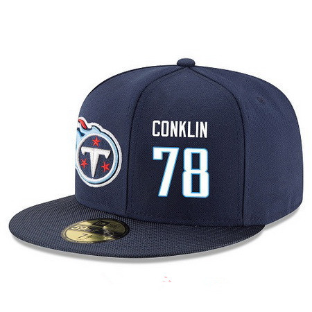 b5ece7cdb66 Tennessee Titans  78 Jack Conklin Snapback Cap NFL Player Navy Blue with  White Number Stitched