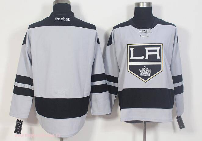 93cfcff03b8 The Mens Los Angeles Kings Blank Gray Alternate Stitched NHL 2016-17 Reebok  Hockey Jersey ...