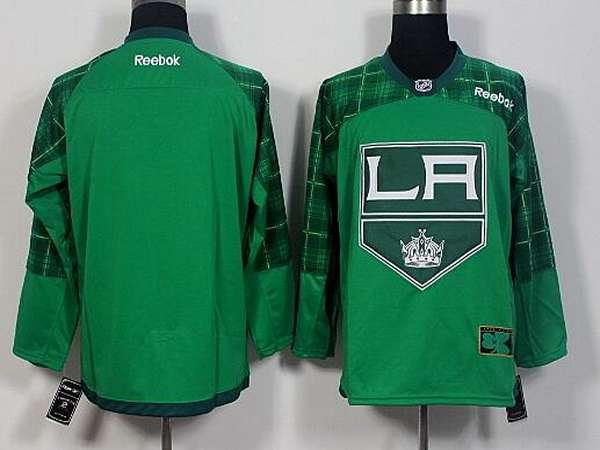 Men's Los Angeles Kings Blank Green 2016 St. Patrick's Day Hockey Jersey