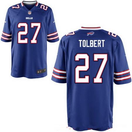 ID94711 Men\'s Buffalo Bills #27 Mike Tolbert Royal Blue Team Color Stitched NFL Nike Elite Jersey