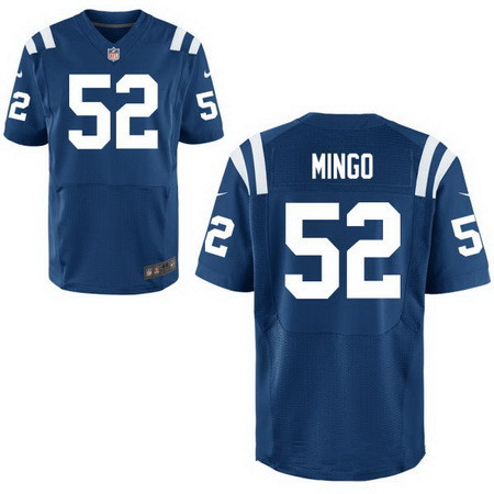 Men's Indianapolis Colts #52 Barkevious Mingo Royal Blue Team Color Stitched NFL Nike Elite Jersey