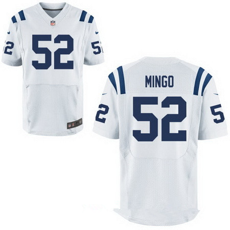 Men's Indianapolis Colts #52 Barkevious Mingo White Road Stitched NFL Nike Elite Jersey