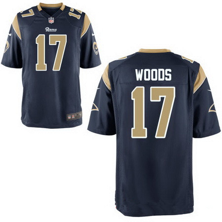 Men's Los Angeles Rams #17 Robert Woods Navy Blue Team Color Stitched NFL Nike Elite Jersey