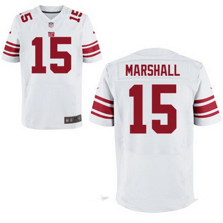 Men's New York Giants #15 Brandon Marshall White Road Stitched NFL Nike Elite Jersey