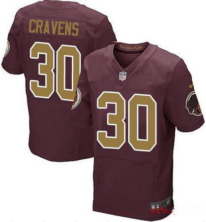 Men s Washington Redskins  30 Su a Cravens Red With Gold Alternate Stitched  NFL Nike d89eb207c