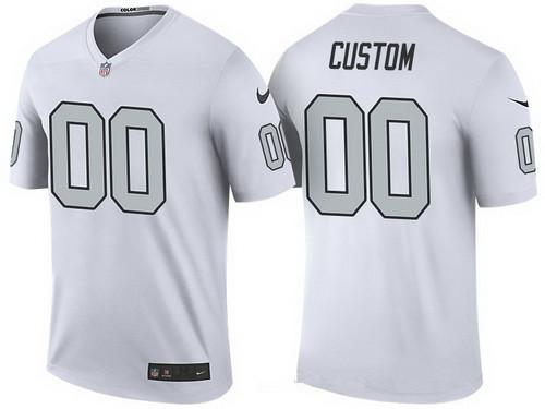 Men S Oakland Raiders White Custom Color Rush Legend Nfl