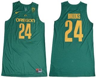 Men's Oregon Ducks #24 Dillon Brooks Dark Green College Basketball 2017 Nike Swingman Stitched NCAA Jersey