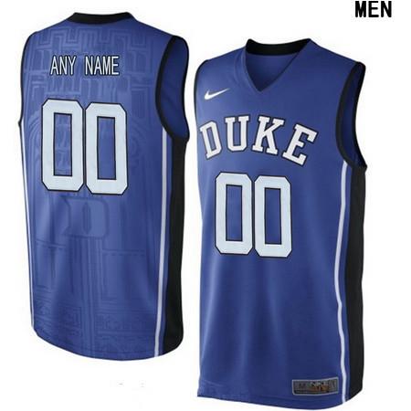 Youth Duke Blue Devils Custom V-neck College Basketball Nike Elite Jersey - Royal Blue