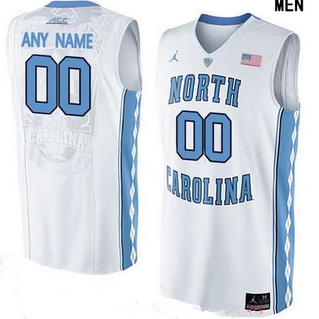 Youth North Carolina Tar Heels Custom Brand Jordan College Basketball Jersey - White