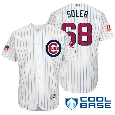 Los angeles lakers cheap nfl elite jerseys mlb coolbase jerseys nba - Men S Chicago Cubs 68 Jorge Soler White Stars Stripes Fashion Independence Day Stitched Mlb