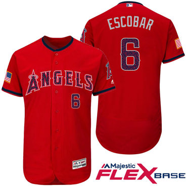 Los angeles lakers cheap nfl elite jerseys mlb coolbase jerseys nba - Men S Los Angeles Angels Of Anaheim 6 Yunel Escobar Red Stars Stripes Fashion Independence