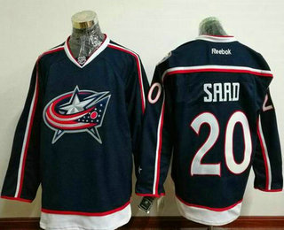 Men's Columbus Blue Jackets #20 Brandon Saad Navy Blue Home Stitched NHL Reebok Hockey Jersey