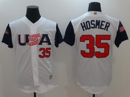 ec2364ea183 ... Mens Team USA Baseball Majestic 35 Eric Hosmer White 2017 World  Baseball Classic Stitched Authentic Jersey ...