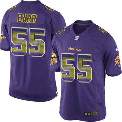 ID94571 Nike Vikings #55 Anthony Barr Purple Team Color Men\'s Stitched NFL Limited Strobe Jersey