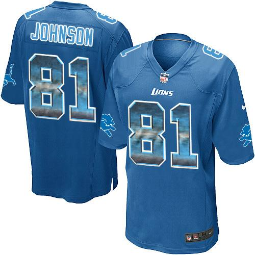 9b2b3beb nike lions 23 darius slay jr blue team color mens stitched nfl ...