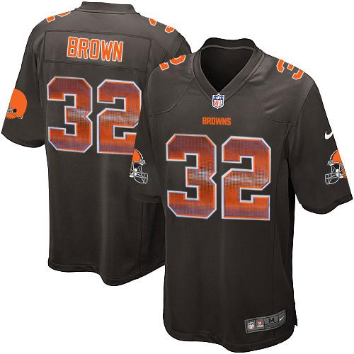 ... Nike Browns 32 Jim Brown Brown Team Color Mens Stitched NFL Limited  Strobe Jersey ... 89d16be72